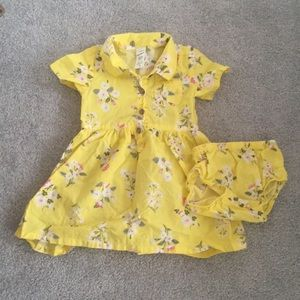 Carter's Floral Poplin Shirt Dress 12 months
